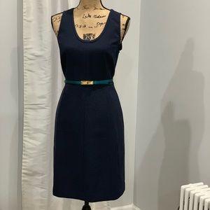 J. Crew navy blue sheath dress size 8